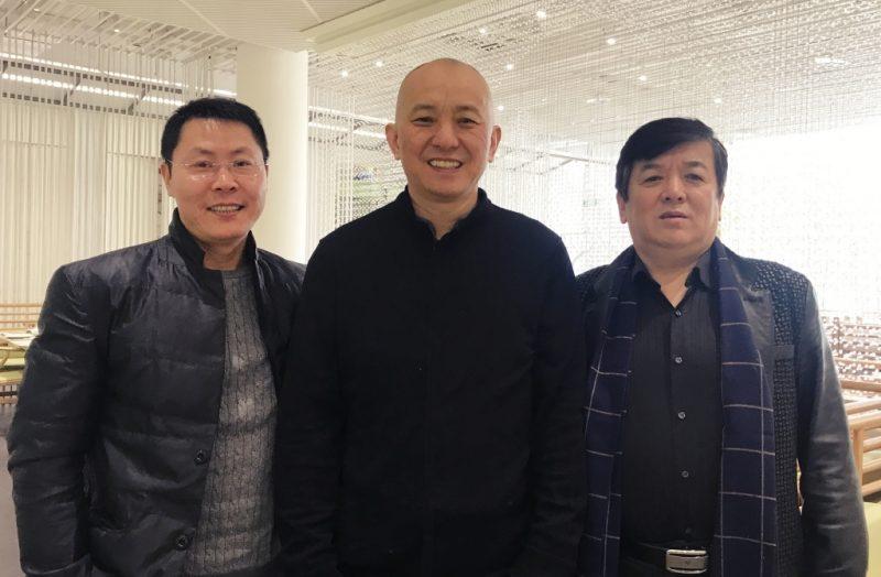 中华姚网尚明站长与北京姚氏宗亲联谊会创始会长姚小明、秘书长姚冰