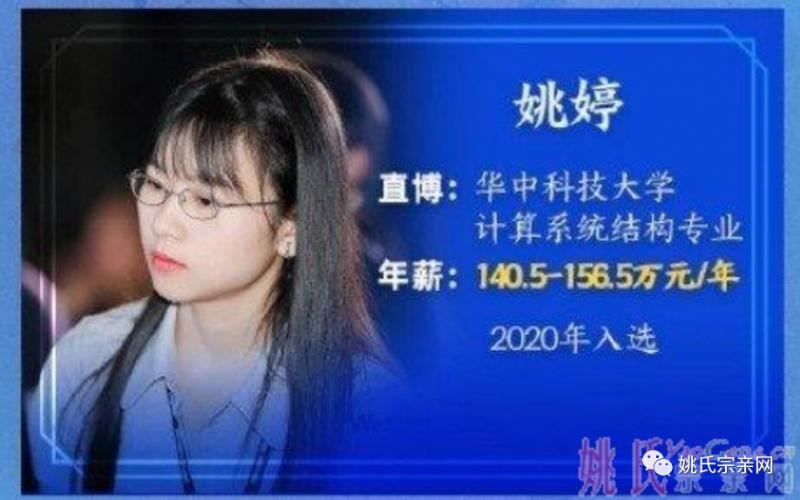 益阳姚婷入选华为天才少年计划,刚毕业年薪156万 --姚氏宗亲网
